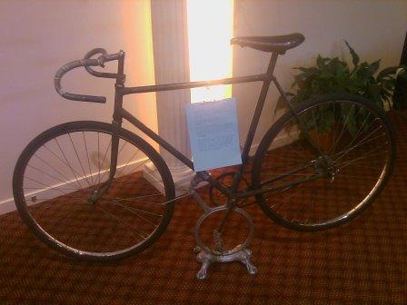 Ken Baxters bike he rode to win the Gore to Invercargill Classic in 1939