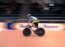 Matt Archibald wins the Mens Sprint at the Southland Track Champs