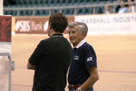Laurie Tall with Julian Ineson at the 2010 Nagtional Track Champs