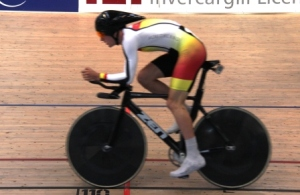 Cam Karwowski qualifies fastest for Mens Individual Pursuit
