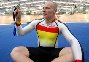 Matt Archibald with his 250m TT Gold Medal