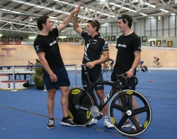 Eddie Ethan and Sam celebrate raising over 1000 dollars for Canterbury with their Sprint Training Cl