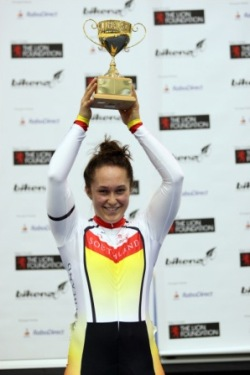 Steph McKenzie is named NZ Junior Track Rider of the Year for 2010
