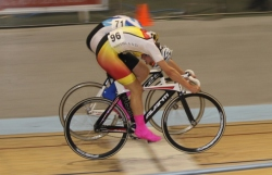 Michael Culling wins the U17 Scratch Race in a Photo Finish