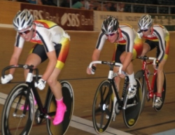 Southlanders Jamie Culling Pieter Bulling and Marcel Baird in the U19 Mens Points Race