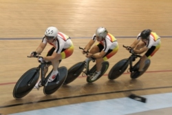 Jerard Stock Garry Smith and Mike White win gold in the Master Team Pursuit