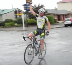 Dillon Bennett claims the 2011 Southland Senior Men Road Race title