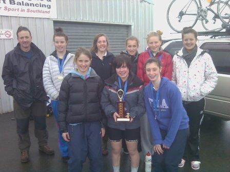 Southland Girls Road Cycling squad win the Schools Trophy for 2011