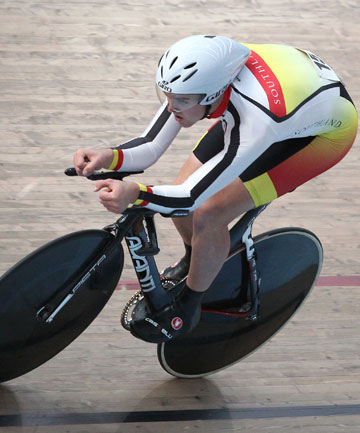 Tom Scully in the National Omnium Championships