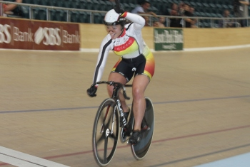 Natasha Hansen wins the Women Keirin at the 2012 Track Nationals