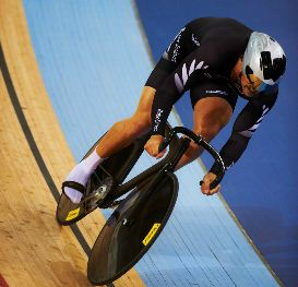 Eddie Dawkins in Mens Team Sprint at London World Cup