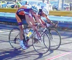 Josh Haggerty and Brad Tuhi in the Teretonga Criterium