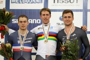 Mens Kilo World Champs Podium - Photo courstesy of CJ Farquarson/BikeNZ