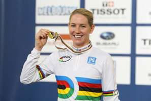 Alison Shanks - 2012 World Champion. Photo courtesy of CJ Farquarson/BikeNZ
