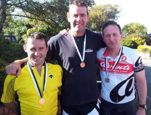 Alan Strong Wayne Miller and Dave Beadle after 2012 Time Trial Champs