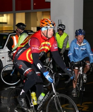 Nathan Burdon waits to start the Queenstown to Invercargill charity ride