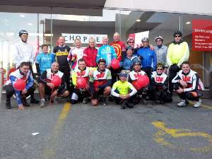The Westpac Chopper Appeal bunch makes it safely to Invercargill