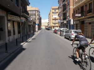 Riding the streets of Spain