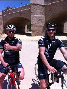 Matt and Eddie stretching their legs in Valencia