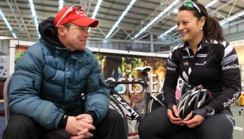 Jerry Stock with Natasha Hansen - photo courtesy of The Southland Times