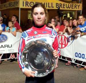 Sophie Williamson with the Iron Hill Crit Trophy