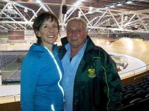 South African team manager Roger Bunton with Event Director Sue Clarke