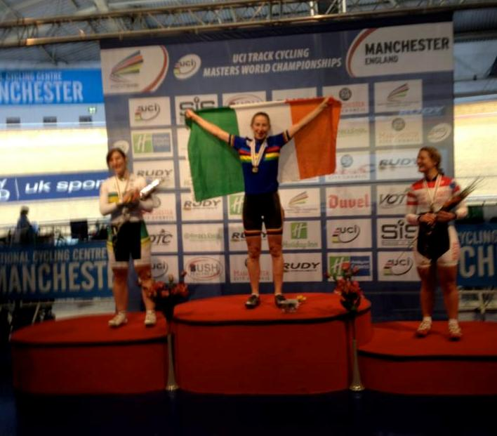 Sue on Podium