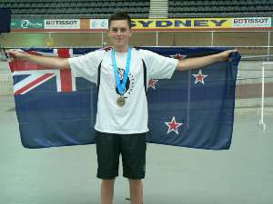 Jeremy Presbury after two gold medals in Sydney