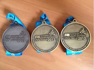 Jeremy Presbury's three Youth Olympic Festival medals