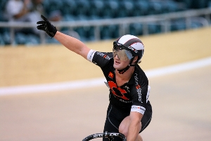 Daniel Rafferty after winning the Men's keirin