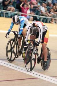 Natasha Hansen takes the Womens Keirin - Photo by James Jubb