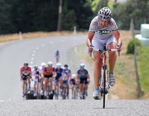 Geoff van Dam attacks - Photo by Robyn Edie/The Southland Times