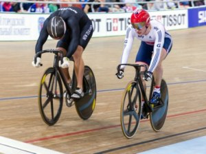 Sam Webster beats Jason Kenny - Photo by Guy Swarbrick-BikeNZ