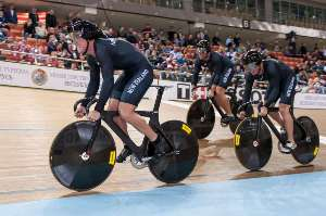 Men's team Sprint Start - Photo by Guy Swarbrick-BikeNZ