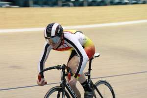Kain Bowles wins the U15B Time Trial - Photo by Robyn Jordan