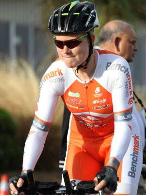 Linda Villumsen starts her Time trial - Photo courtesy of Robyn Edie - The Southland Times