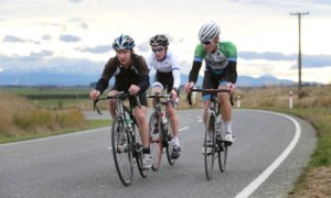 Winning break in the Teams Road Race - photo by Robyn Edie/The Southland Times