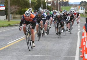 Aaron Sinclair wins the sprint for fourth - Photo by Robyn Edie/The Southland Times