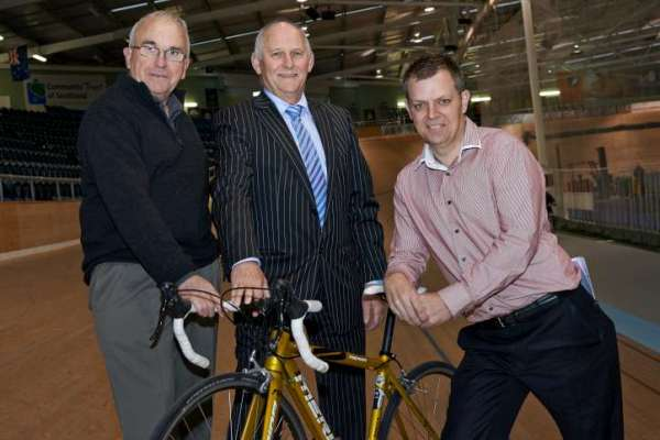 Bruce Ross, Ross Smith and Nick Jeffrey announce SBS Bank's sponsorship