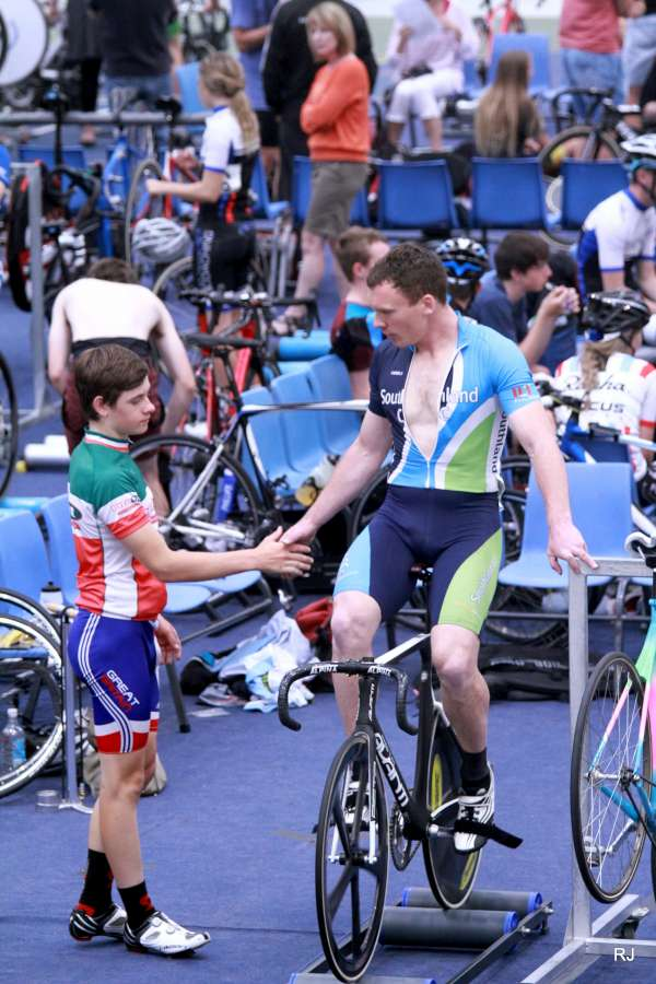 Watson handshake 2014 Track Champs
