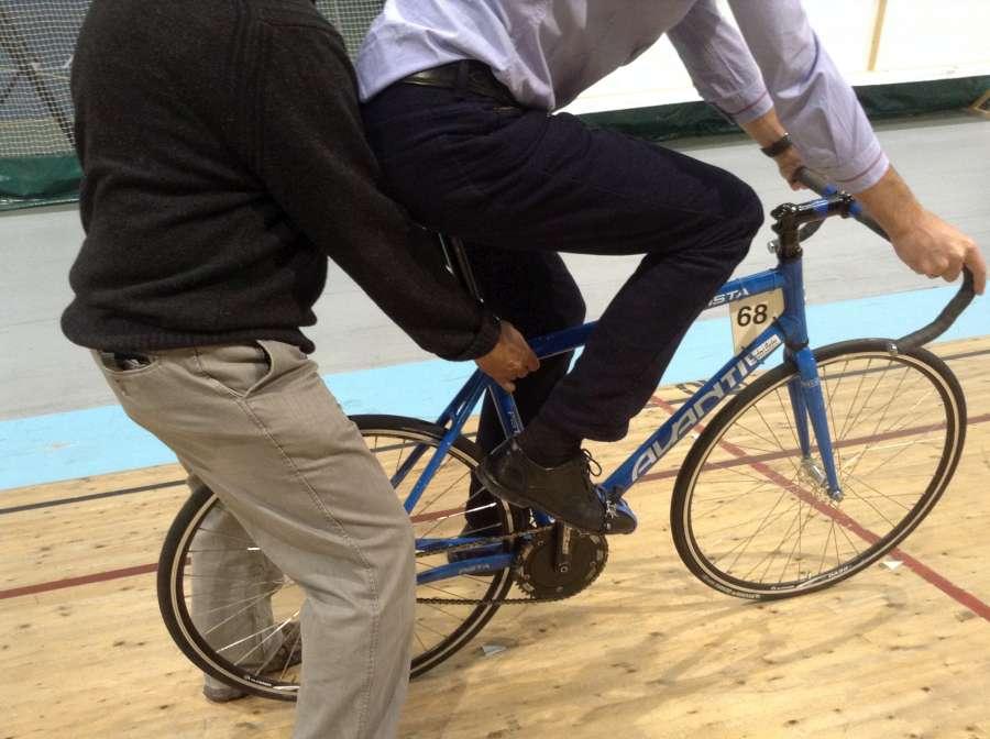 Bike Hold Correct Handling
