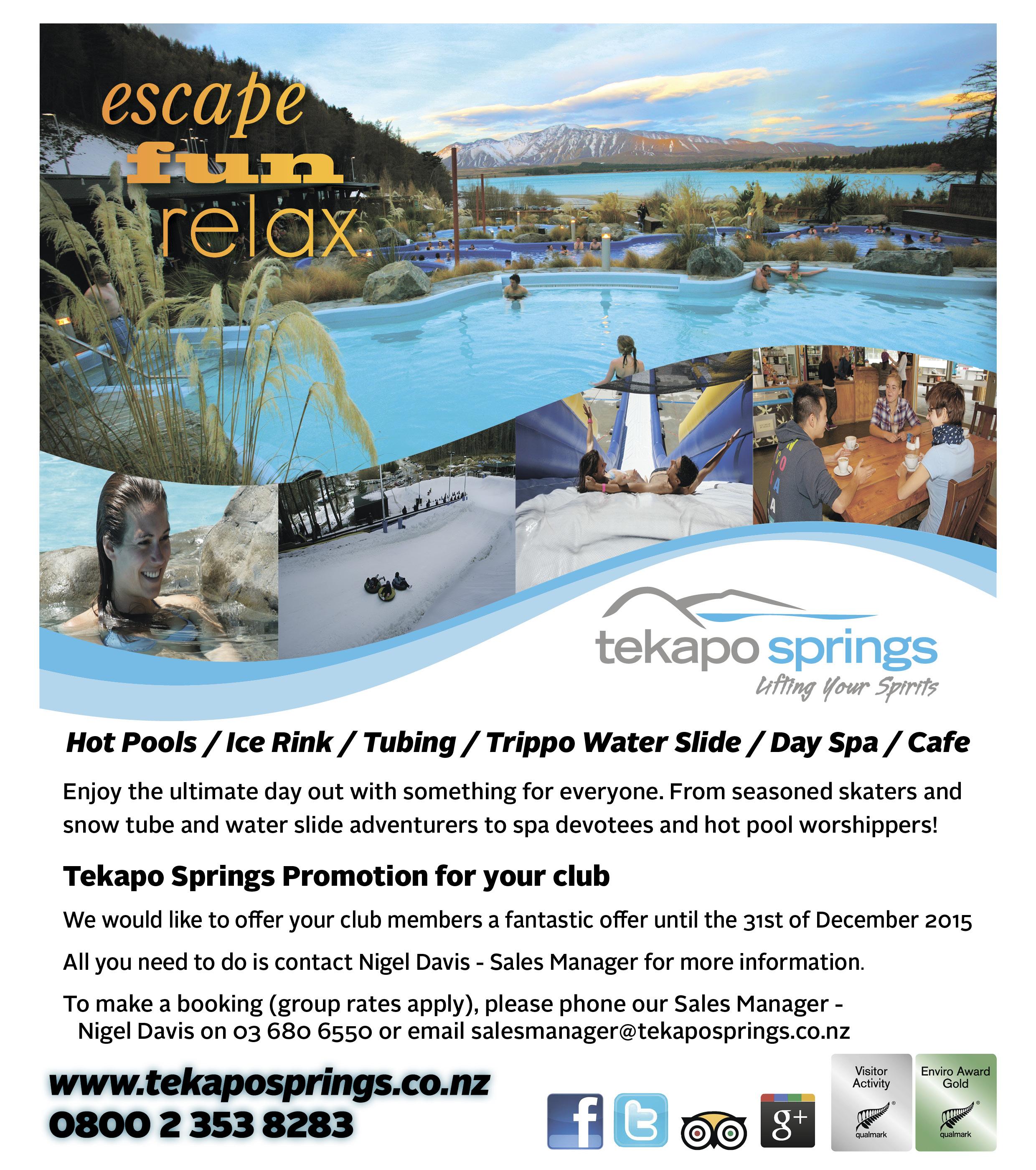 Tekapo Springs Offer